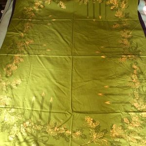 Other - Vintage Large Christmas Tablecloth Candles 1950s?